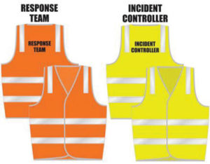 Labelled hi-vis safety vests