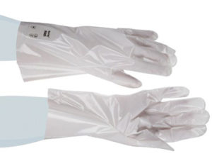 Barrier laminated film gloves