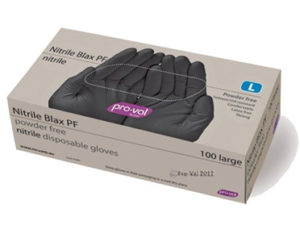 Disposable nitrile gloves - box of 100 (black)