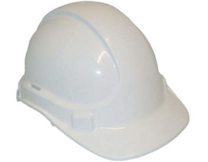 Safety helmet - unvented, white