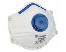 Disposable respirator P2 valved