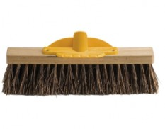 Bassine broom with timber-backed head 35cm