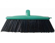 Hard bristle broom with extension handle