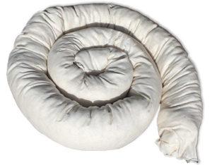 Organic absorbent boom - 2.4m x 10cm