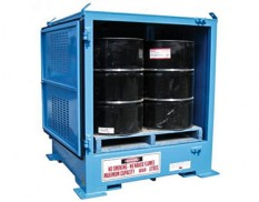 Relocatable dangerous goods store - single pallet 205L drums