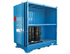 Relocatable dangerous goods stores - 4 pallet 205L drums