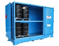 Relocatable dangerous goods stores - 6 pallet 205L drums