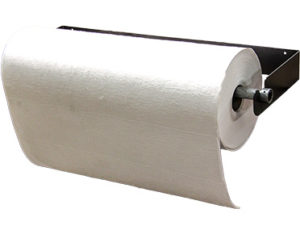 Absorbent roll holder - horizontal