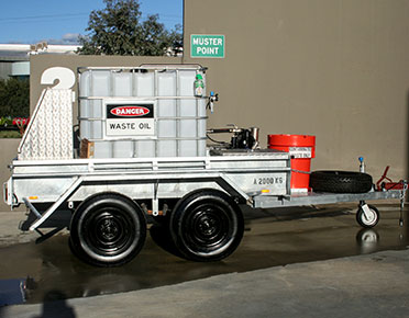 Oil spill recovery trailer - tandem axle