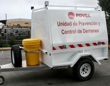 Spill response trailer - single axle