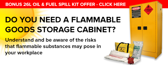 Flammable goods safety storage cabinet