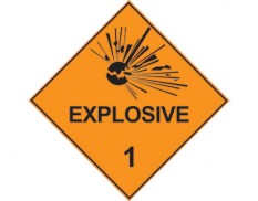 Class 1 explosive sign - dangerous goods diamond