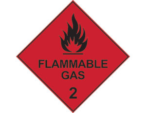 Dangerous goods diamond sign - Class 2 flammable gas sign