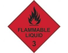 Dangerous goods diamond sign - Class 3 flammable liquids sign
