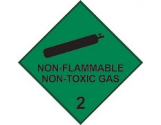Dangerous goods diamond sign - Class 2 non flammable gas sign