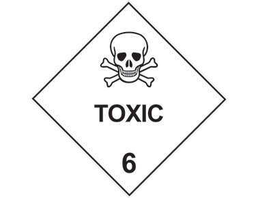 Class 6 toxic sign dangerous goods diamond dangerous goods diamond sign class 6 toxic sign altavistaventures Gallery