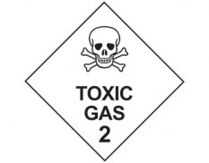 Dangerous goods diamond sign - Class 2 toxic gas sign