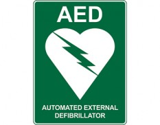 AED emergency information sign