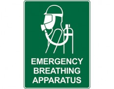 Emergency information sign - emergency breathing apparatus
