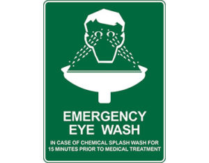 Emergency information sign - emergency eye wash