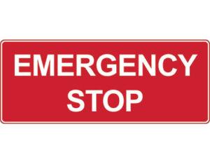 Emergency information sign - emergency stop