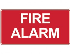 Fire safety sign - fire alarm sign
