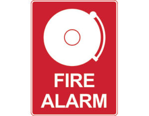 Fire alarm sign - fire alarm with icon