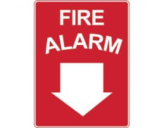 Fire safety sign - fire alarm with arrow