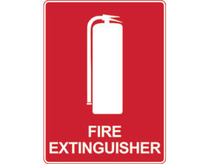 Fire extinguisher sign - fire extinguisher with icon