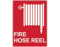 Fire hose reel sign - with icon
