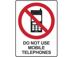 No mobile phones sign - do not use mobile telephones