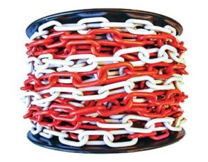 Plastic chain - red and white