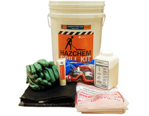 Hydrofluoric acid spill kit - 650mL absorbent capacity