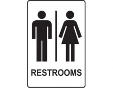 Restroom sign - ladies and gents