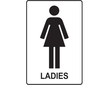 ladies restroom sign facilities signage from global spill control