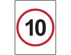 10km speed limit sign