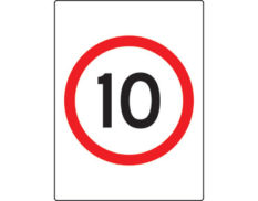 Speed limit sign - 10km per hour