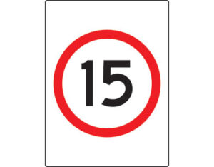 15km speed limit