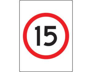 15km speed limit