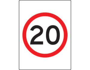 Speed limit sign - 20km per hour