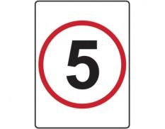 5km speed limit sign