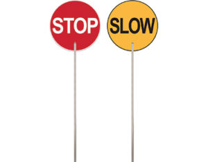 Traffic paddle - stop slow