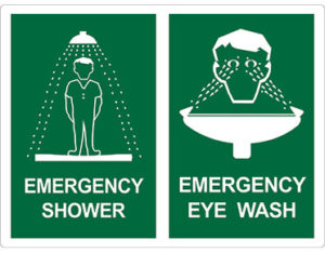 Emergency sign - combination shower and eyewash sign