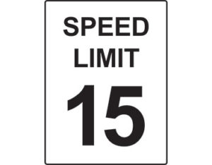 Speed limit signs 15km