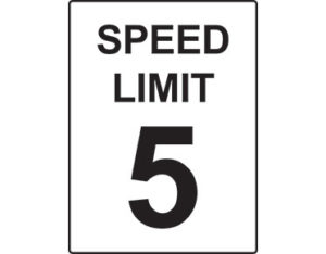 5km speed sign