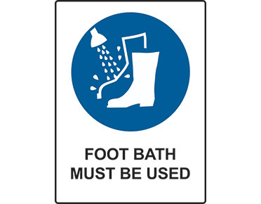 Mandatory Foot Bath Sign From Global Spill Control