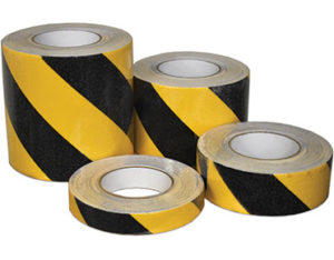 Black and yellow anti-slip tape site safety equipment