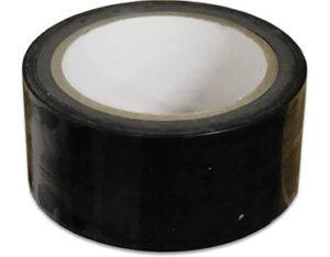 Black floor marking tape - site safety equipment