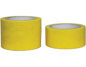 Yellow floor marking tape