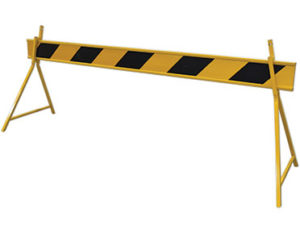 Barrier board - black and yellow